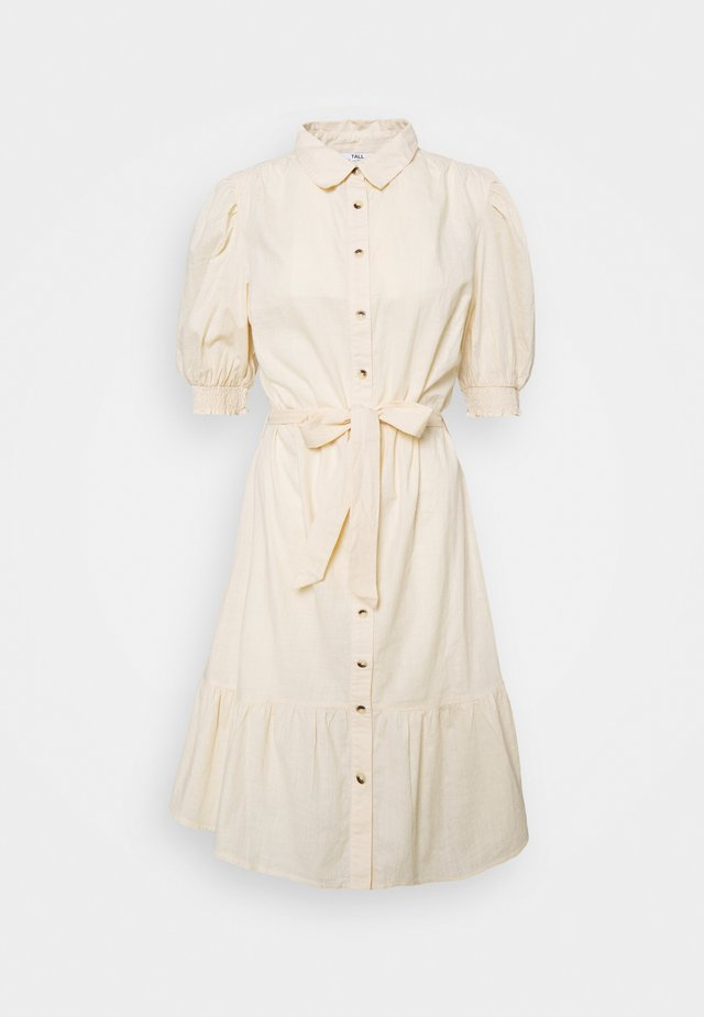 PUFF SLEEVE SHIRT DRESS - Shirt dress - stone