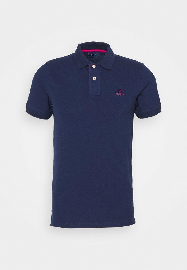 CONTRAST COLLAR RUGGER - Polo - persian blue