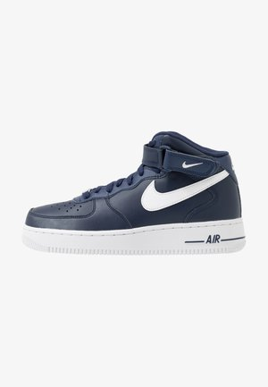 AIR FORCE 1 MID '07 - Korkeavartiset tennarit - midnight navy/white