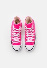 Converse - CHUCK TAYLOR ALL STAR SEASONAL COLOR UNISEX - Zapatillas altas - hyper pink - 3