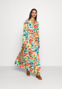 Glamorous - LONG SLEEVE WRAP MIDI DRESS - Maxi dress - large bright - 1
