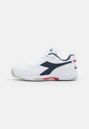 S.CHALLENGE 3 SL CARPET - Tennisschoenen voor tapijtbanen - white/blue corsair