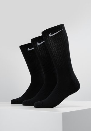 EVERYDAY CUSH CREW 3 PACK - Sports socks - black/white