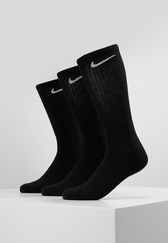 EVERYDAY CUSH CREW 3 PACK - Chaussettes de sport - black/white