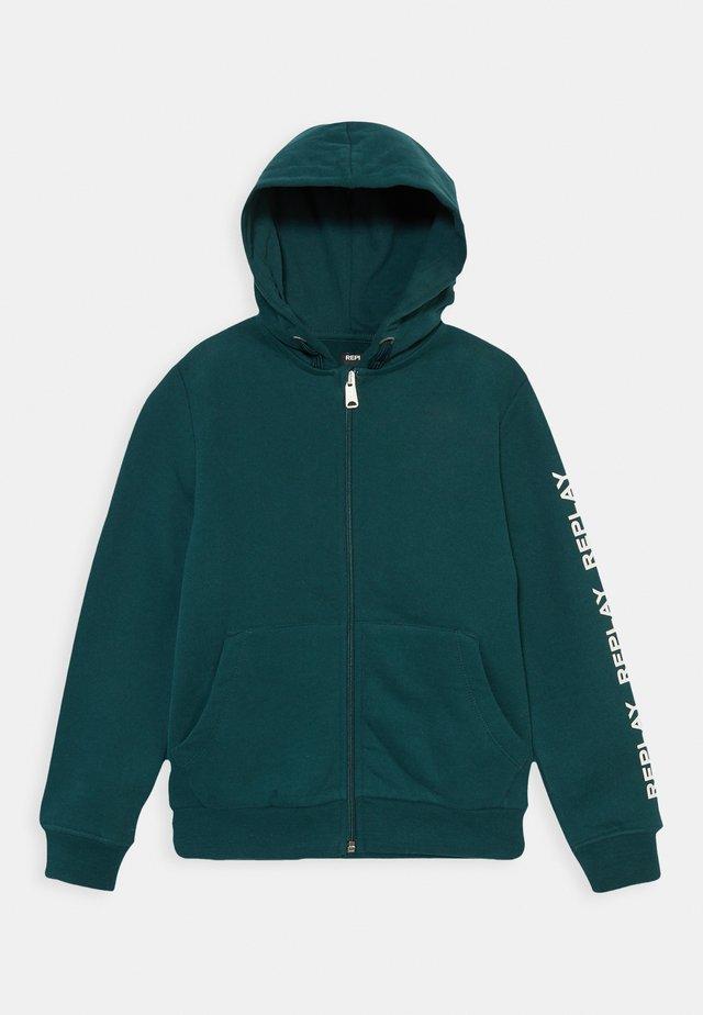 Hoodie met rits - dark green