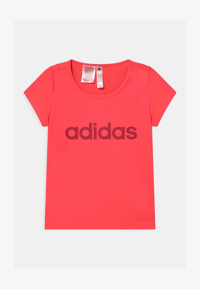 T-shirt con stampa - signal pink/power pink