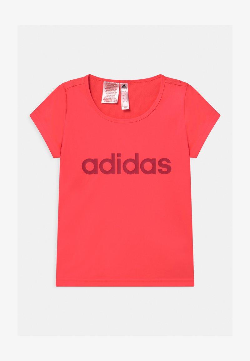 adidas Performance - Triko spotiskem - signal pink/power pink