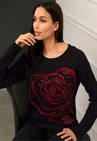Alba Moda - Sweatshirt - schwarz,rot - 3
