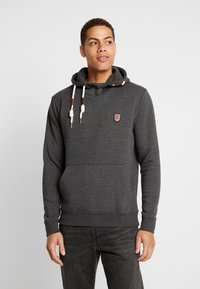 INDICODE JEANS - NEVILLY - Sweat à capuche - charcoal mix - 0