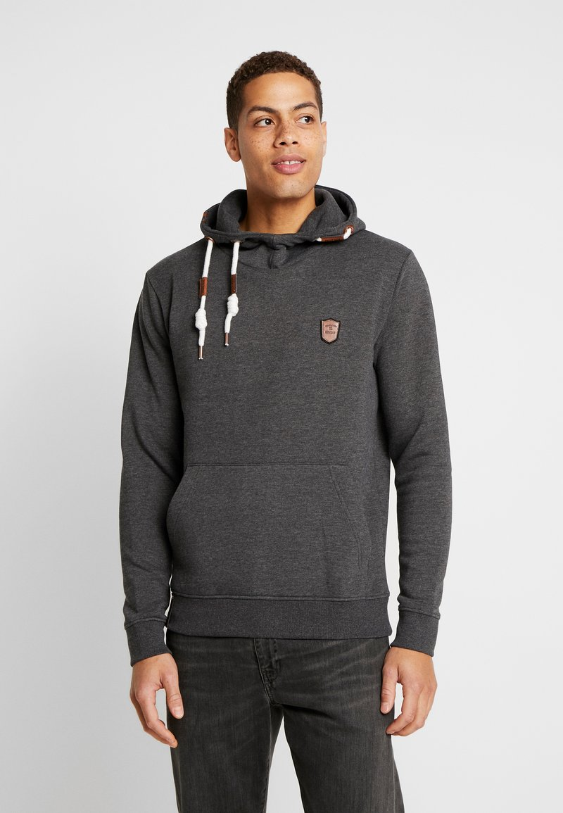 INDICODE JEANS - NEVILLY - Sweat à capuche - charcoal mix