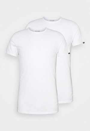 BASIC CREW TEE 2 PACK - Unterhemd/-shirt - white