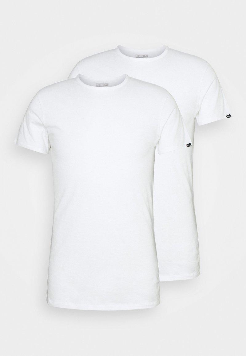 Puma - BASIC CREW TEE 2 PACK - Caraco - white