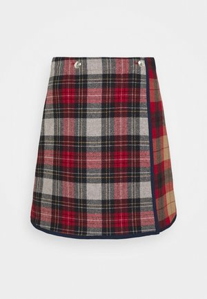 ICON CHECK SKIRT - A-line skirt - red