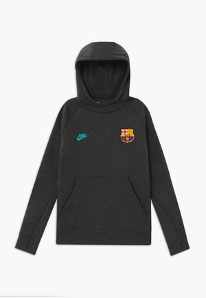 FC BARCELONA HOOD - Club wear - anthracite/dark grey/cabana