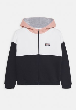 Zip-up hoodie - alcea/flour/navy blue/silver chine