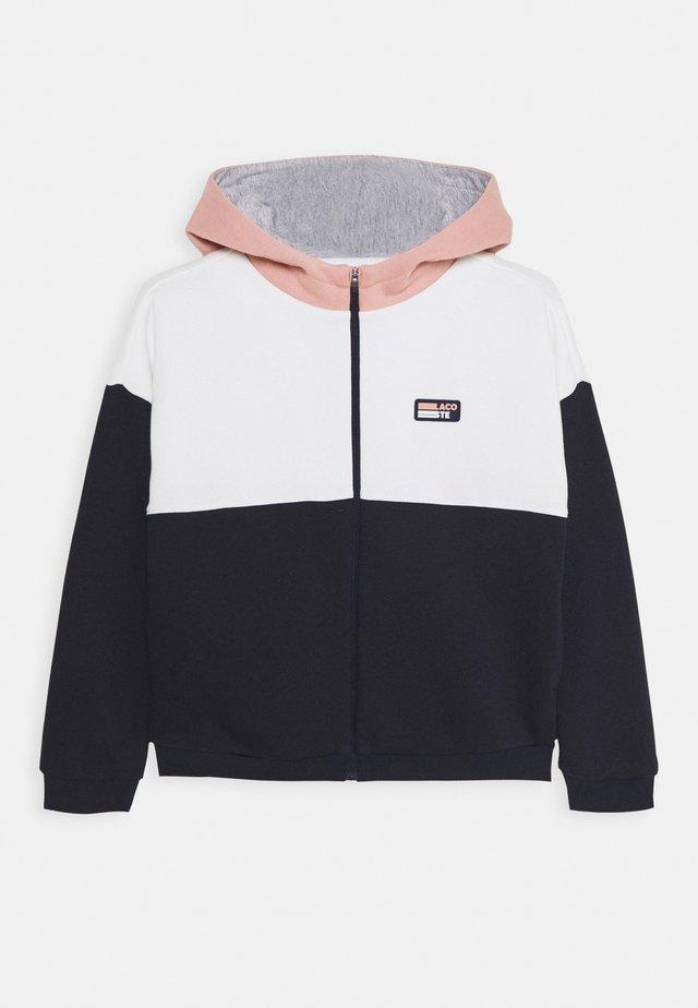 Zip-up hoodie - alcea/flour/navy blue/silver chine
