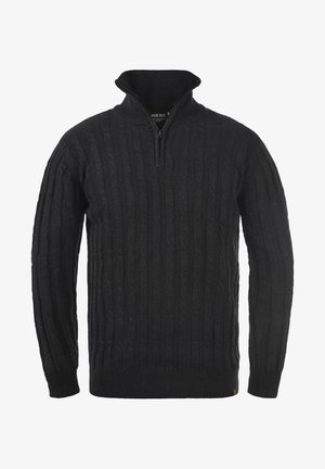 TROYER PAULO - Strikpullover /Striktrøjer - charcoal mix