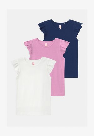 KAIA 3 PACK - Basic T-shirt - purple paradise/indigo/vanilla