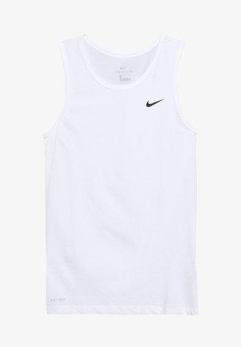 DRY TANK SOLID - Treningsskjorter - white/black