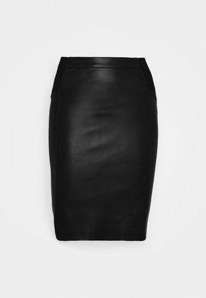 VMBUTTERSIA COATED SKIRT - Pencil skirt - black