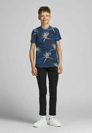 Print T-shirt - navy peony