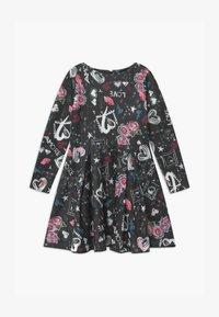 Patrizia Pepe - ABITO STAMPA LOVE - Jersey dress - nero - 0