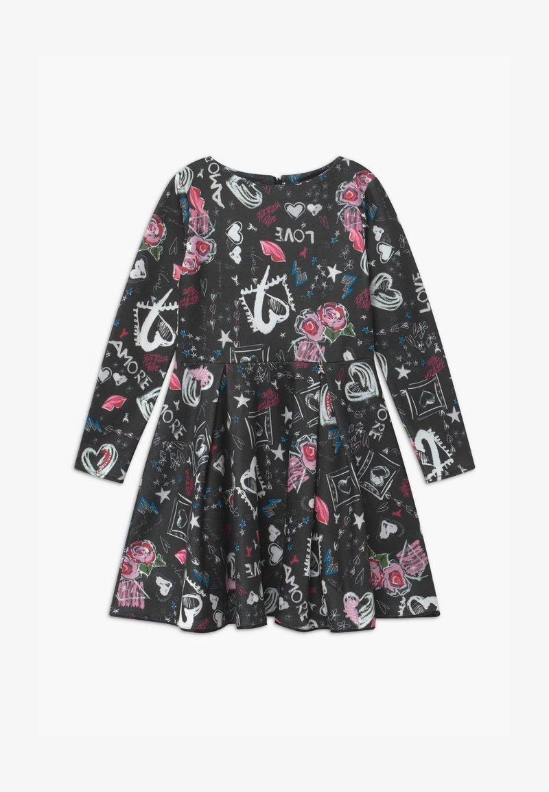 Patrizia Pepe - ABITO STAMPA LOVE - Jersey dress - nero