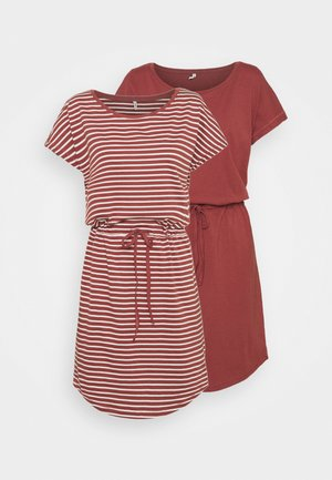 ONLMAY LIFE DRESS 2 PACK - Jerseykjole - apple butter