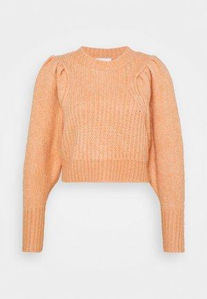 PLEAT CROP - Stickad tröja - pink