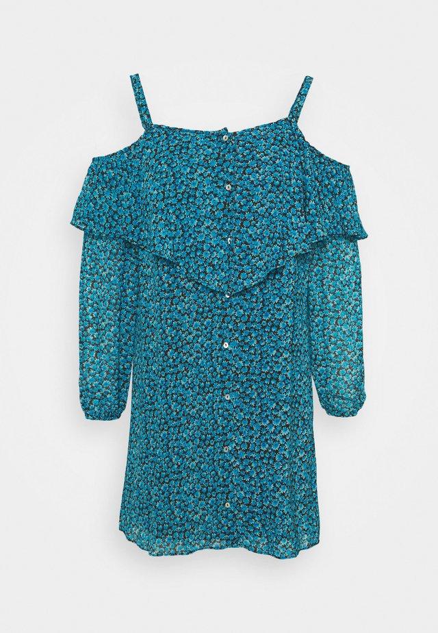 BUTTON THROUGH DRESS - Korte jurk - blue