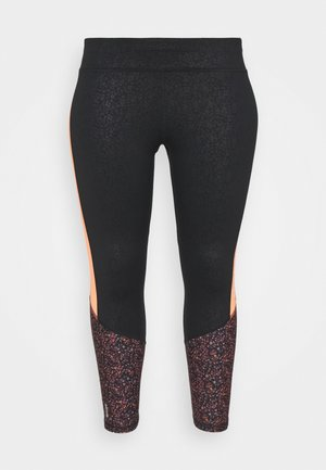 ONPDAMMAN LIFE TRAIN  - Legging - black/mesa rose/sunset orange