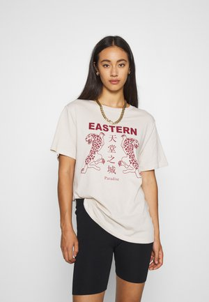 ELLIE TEE - T-shirts med print - stone