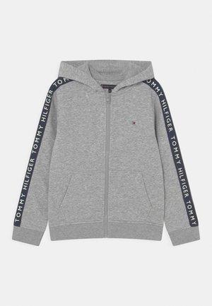 GLOW IN THE DARK ZIP THROUGH - Sweat à capuche zippé - light grey heather