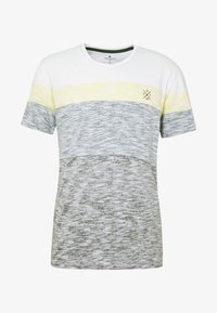 INSIDE COLOUR BLOCK - T-shirt con stampa - olive night green