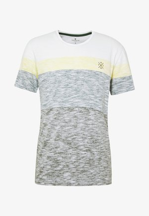 INSIDE COLOUR BLOCK - Print T-shirt - olive night green