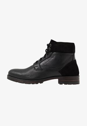 JACKSON CUFF BOOT - Lace-up ankle boots - black