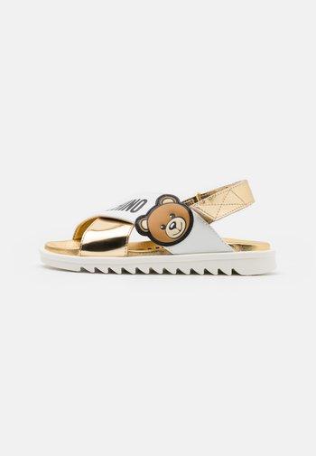 Sandals - white/gold