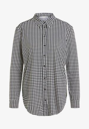 Button-down blouse - black/offwhite