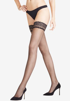 SHELINA STAY UPS - Over-the-knee socks - black