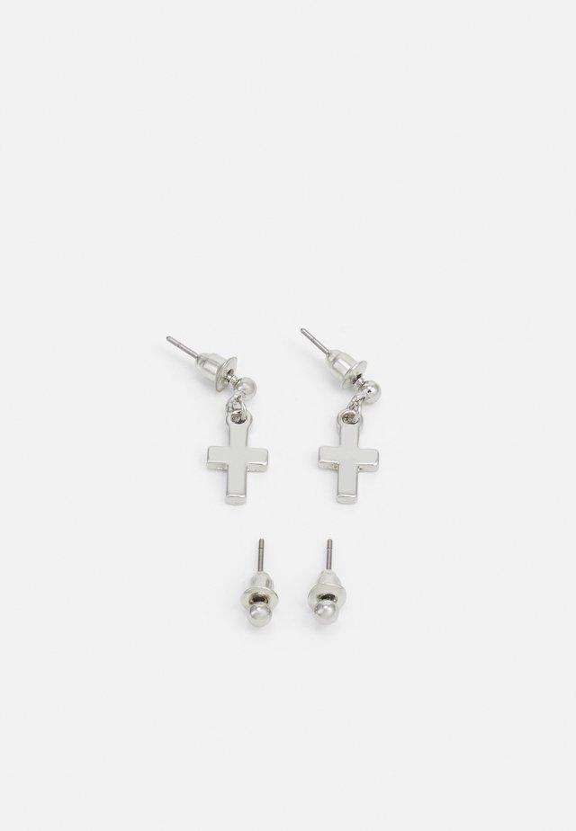 STUD CROSS DROP 2 PACK - Boucles d'oreilles - silver-coloured