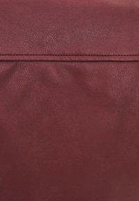 Bershka - Faux leather jacket - bordeaux - 4