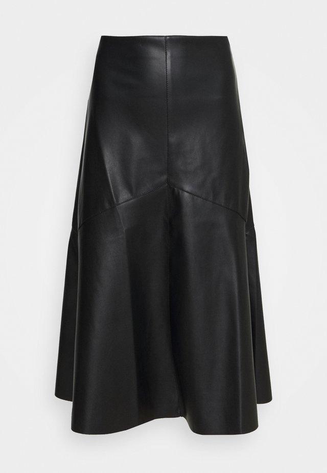 ALINE SKIRT - Spódnica trapezowa - black