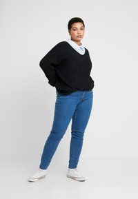 Kaffe Curve - AMINA - Button-down blouse - blue - 1