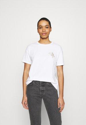 BOYFRIEND LOGO TEE - T-shirt imprimé - white