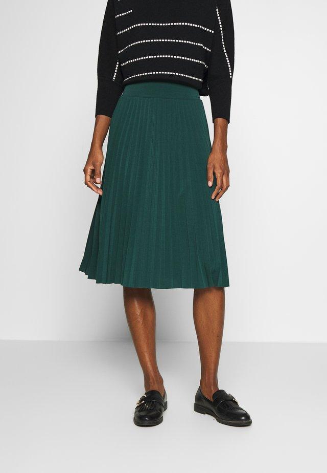 Plisse A-line mini skirt - Áčková sukně - scarab