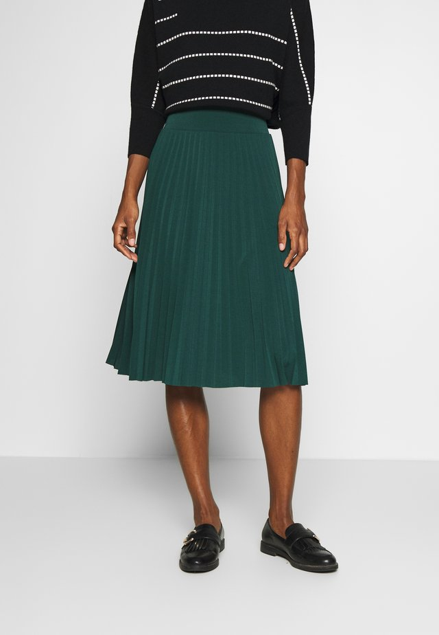 Plisse A-line mini skirt - A-line skirt - scarab