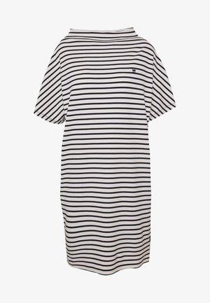 JOOSA FUNNEL - Vestito di maglina - dark blue/white