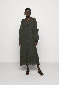 Bruuns Bazaar - MILLEH IDOH DRESS - Shirt dress - green night - 0
