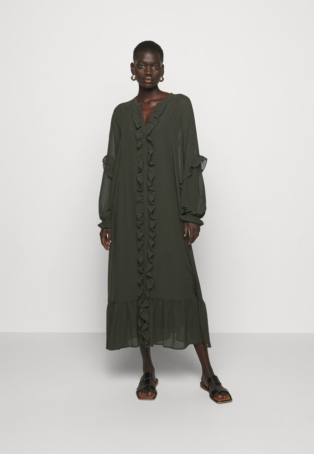 MILLEH IDOH DRESS - Shirt dress - green night