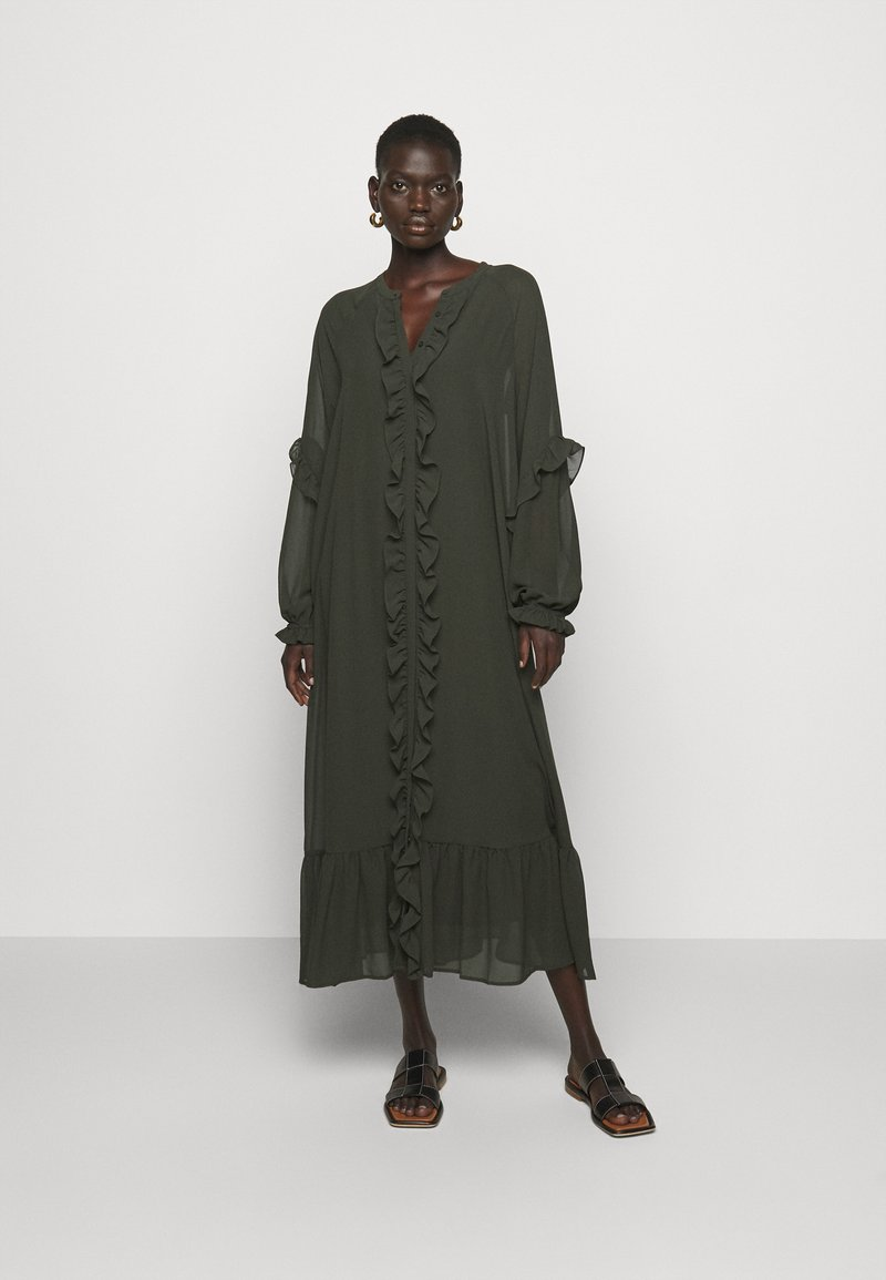 Bruuns Bazaar - MILLEH IDOH DRESS - Shirt dress - green night
